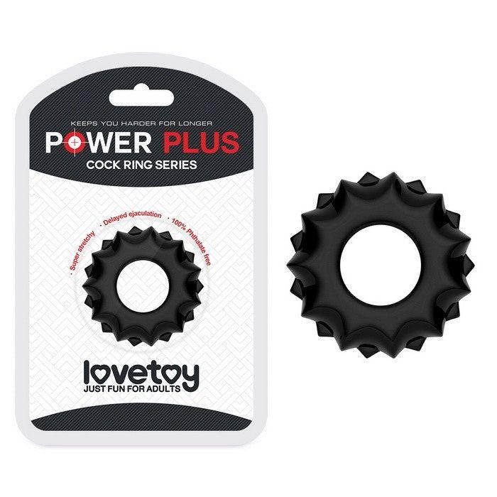 Эрекционное кольцо Lovetoy POWER PLUS Cockring Black