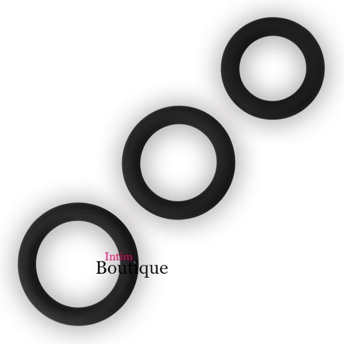 Набор эрекционных колец Power Plus Soft Silicone Snug Ring Lovetoy
