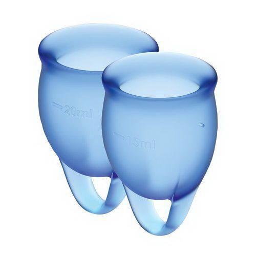 Набор менструальных чаш Satisfyer Feel Confident dark blue 15 и 20 мл