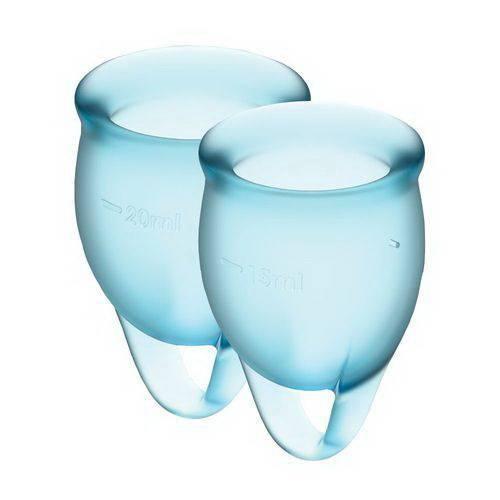 Набор менструальных чаш Satisfyer Feel Confident light blue 15 и 20 мл