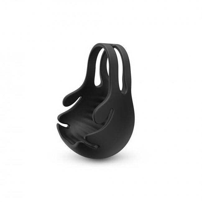 Эрекционное кольцо с вибрацией и стимуляцией мошонки Dorcel FUN BAG